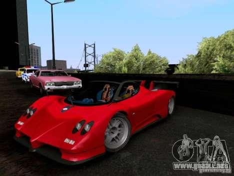 Pagani Zonda EX-R para GTA San Andreas vista hacia atrás