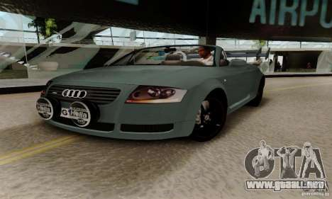 Audi TT Roadster para visión interna GTA San Andreas