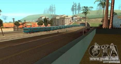 Metro tipo erizo para la visión correcta GTA San Andreas