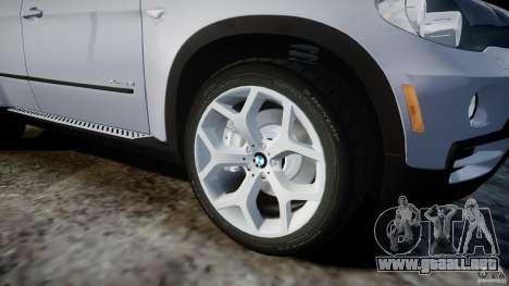 BMW X5 Experience Version 2009 Wheels 214 para GTA 4 vista desde abajo