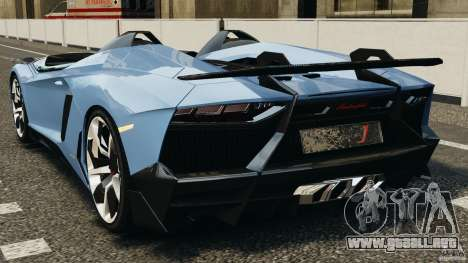 Lamborghini Aventador J 2012 para GTA 4 Vista posterior izquierda