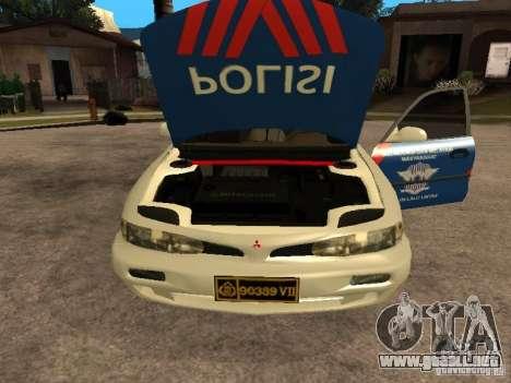Mitsubishi Galant Police Indanesia para la visión correcta GTA San Andreas