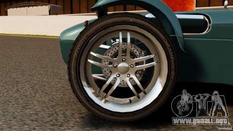 Caterham Superlight R500 para GTA 4 vista hacia atrás
