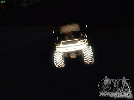 GMC Monster Truck para la visión correcta GTA San Andreas