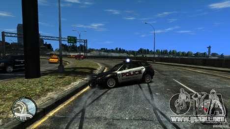 Subaru Impreza WRX STI Police para GTA 4 vista interior