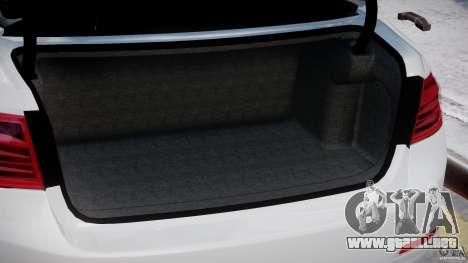 BMW 335i E30 2012 Sport Line v1.0 para GTA 4 interior