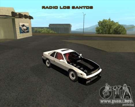 Nissan Silvia S13 streets phenomenon para GTA San Andreas vista posterior izquierda