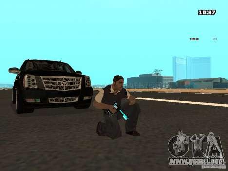Black & Blue guns para GTA San Andreas segunda pantalla
