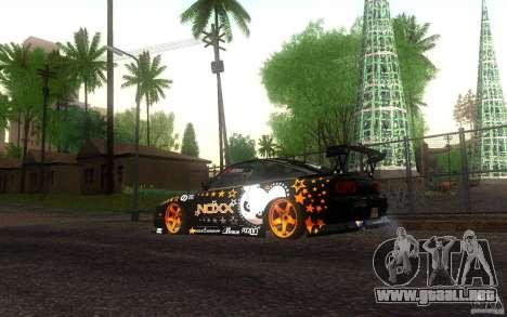 Nissan Silvia RPS13 Noxx para GTA San Andreas vista posterior izquierda