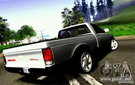 GMC Syclone Stock para visión interna GTA San Andreas