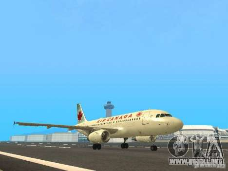 Airbus A319 Air Canada para GTA San Andreas left