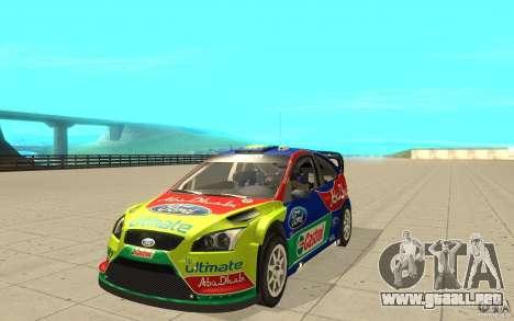 2 trabajos de pintura para el Ford Focus RS WRC  para GTA San Andreas