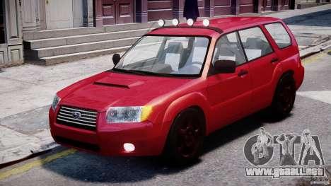 Subaru Forester v2.0 para GTA 4 left
