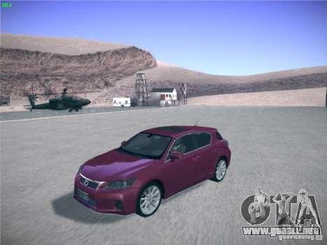 Lexus CT200H 2012 para la visión correcta GTA San Andreas