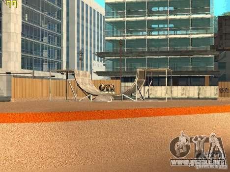 New SkatePark v2 para GTA San Andreas segunda pantalla