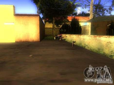 Armas en la calle Grove para GTA San Andreas segunda pantalla