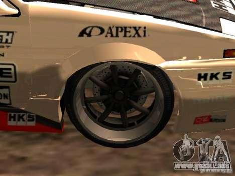 Toyota AE86 Coupe para GTA San Andreas vista hacia atrás