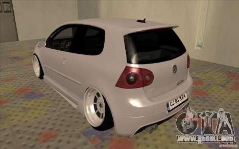 Volkswagen Golf Mk5 para la visión correcta GTA San Andreas