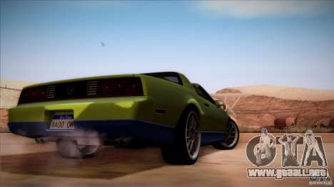 Pontiac Firebird Trans Am para la visión correcta GTA San Andreas
