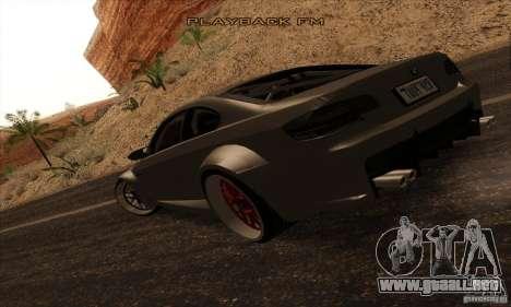 BMW M3 E92 Tuned v2 para GTA San Andreas left