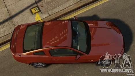Ford Mustang GT 2011 para GTA 4 visión correcta