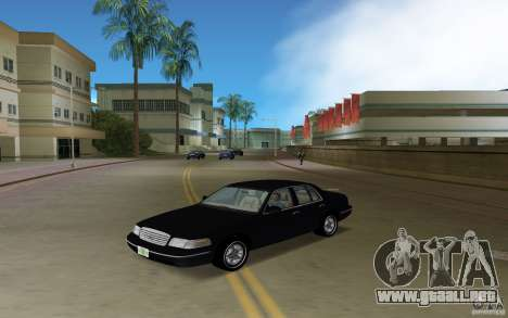 Ford Crown Victoria para GTA Vice City vista lateral izquierdo