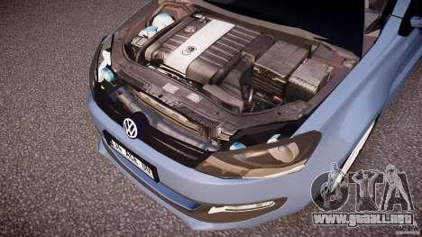 Volkswagen Polo 2011 para GTA 4 vista desde abajo