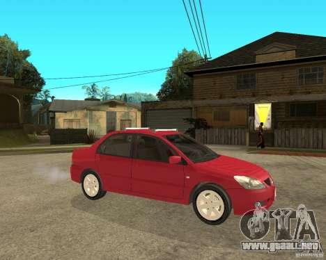 Mitsubishi Lancer 2005 para la visión correcta GTA San Andreas