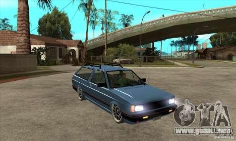 VW Fox 1989 v.2.0 para GTA San Andreas vista hacia atrás