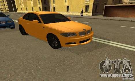 BMW 135i Coupé para GTA San Andreas vista posterior izquierda
