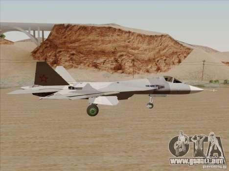 T-50 Pak Fa para GTA San Andreas vista hacia atrás