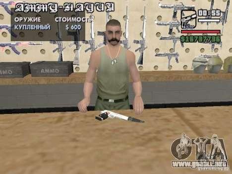 Silverballer silenciado de Hitman para GTA San Andreas sucesivamente de pantalla