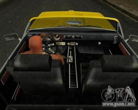 EON Stallion GT-A para GTA San Andreas vista hacia atrás