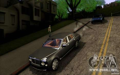 Bentley Mulsanne 2010 v1.0 para la vista superior GTA San Andreas