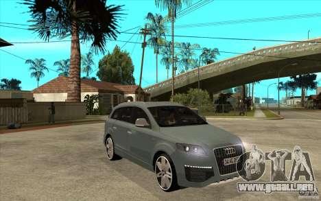 Audi Q7 V12 TDI 2011 para GTA San Andreas vista hacia atrás