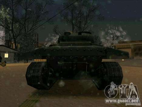 Sherman para GTA San Andreas vista hacia atrás