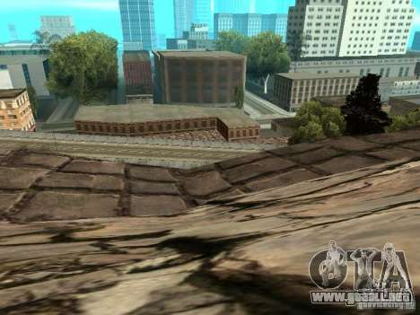 Montaña de piedra para GTA San Andreas octavo de pantalla