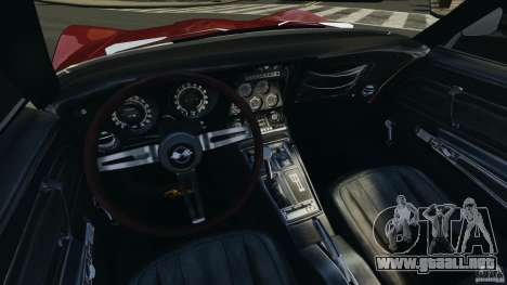 Chevrolet Corvette Stringray 1969 v1.0 [EPM] para GTA 4 vista hacia atrás