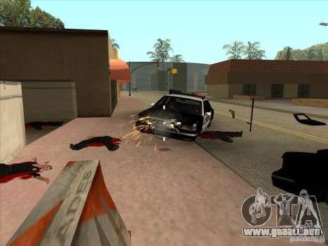 El guión de CLEO: ametralladora en GTA San Andre para GTA San Andreas tercera pantalla