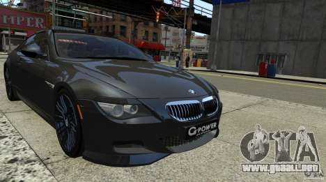BMW M6 Hurricane RR para GTA 4 Vista posterior izquierda
