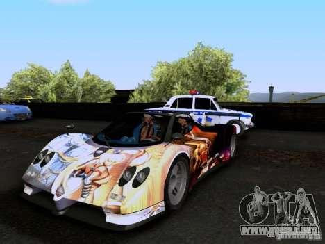 Pagani Zonda EX-R para vista inferior GTA San Andreas