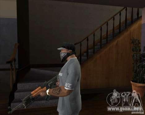 AK-47 actualizado para GTA San Andreas segunda pantalla