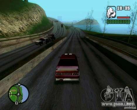 Vaz 21099 NFS Tuning para GTA San Andreas vista hacia atrás