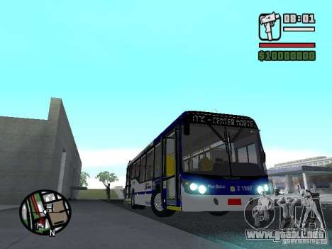 Busscar Urbanuss Ecoss MB 0500U Sambaiba para visión interna GTA San Andreas