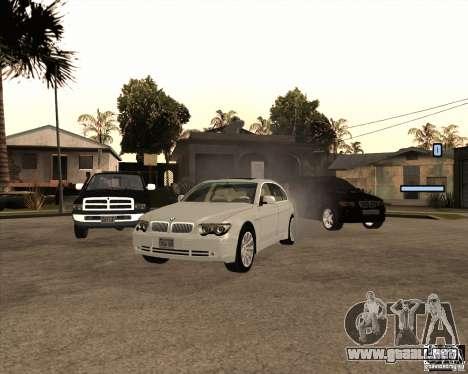 BMW 760i para GTA San Andreas
