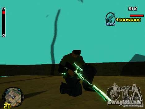 Blue weapons pack para GTA San Andreas