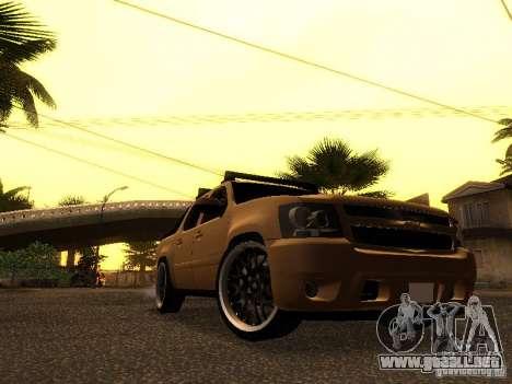 Chevrolet Avalanche Tuning para GTA San Andreas left