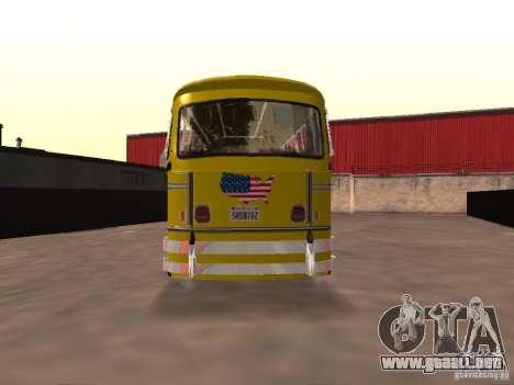 Bedford School Bus para GTA San Andreas vista posterior izquierda