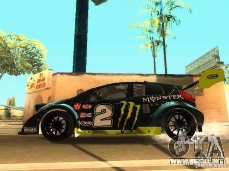 Ford Fiesta Rally Time para vista inferior GTA San Andreas