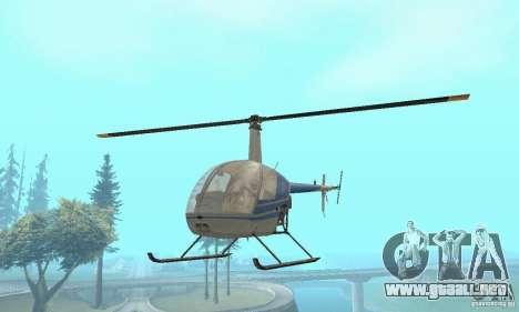 Robinson R22 para la visión correcta GTA San Andreas